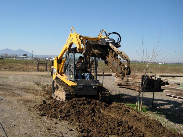 Demolition Concrete Poles : Finta enterprises grading trenching drilling weed